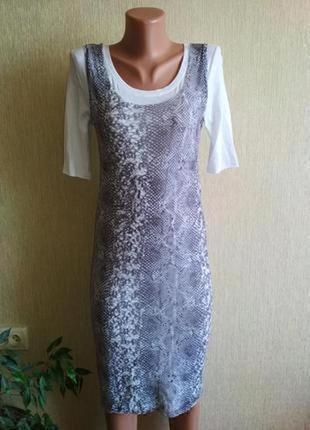 Фирменное летнее двойное платье,р.34-36