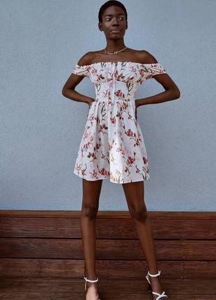 👑 мини-платье в цветочный принт