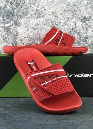 Slides rider слипоны, шлепанцы rider vancouver ad iii red/red