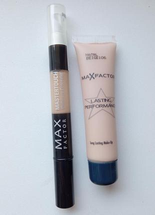 Консилер и тональный крем max factor