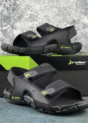 Сандали мужские качественные rider tender x ad black/grey sandal xi ad black