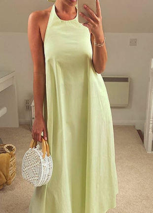 Zara- шикарное, летящее, платье- сарафан