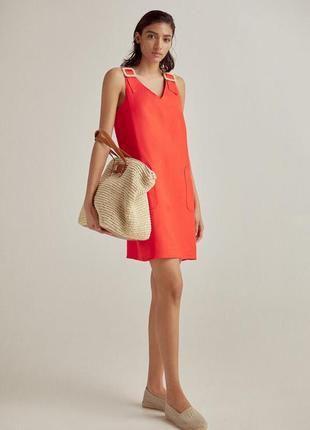 Шикарное платье pedro del hierro испания лен