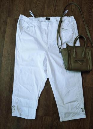 ❤️белоснежные в новом состоянии бриджи джинсовые ботал пояс на резинке
