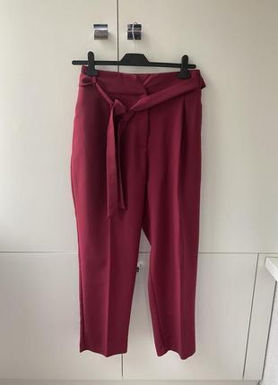 Стильные брюки на высокой посадке с поясом большого размера, батал tu 1+1=3