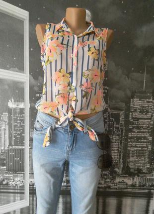 Женская принтованная блузка на завязках от tally weijl