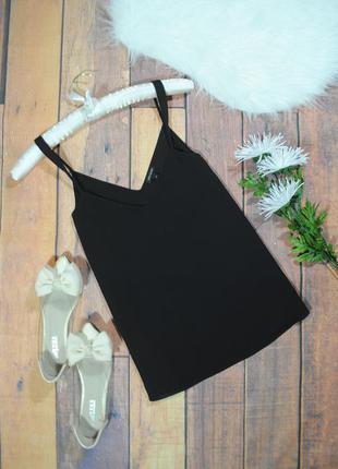 Базовый черный топ  в9222 river island размер uk8/34 (xs/s) майка блуза