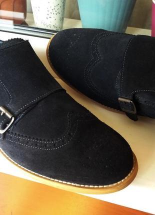 """Очень мягкие стильные элегантные замшевые туфли """"ask the missus""""! англия! 44 р."""