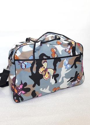 Вместительная дорожная сумка- саквояж