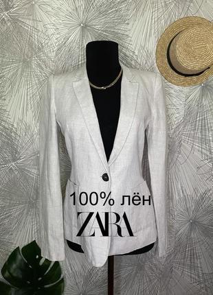 Пиджак из льна о от zara