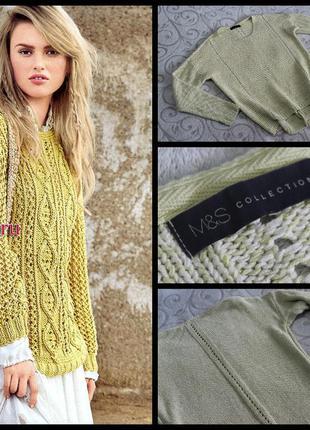 M&s.нежный желтый свитер.