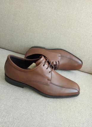 Шкіряні класичні туфлі туфли оксфорди ecco edinburgh 40розм, 632654 оригінал
