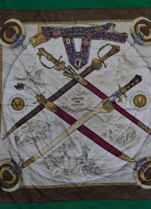 Винтажный платок hermes armes de chasse