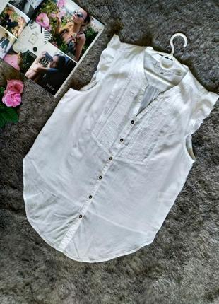 Легкая невесомая батистовая блуза без рукавов