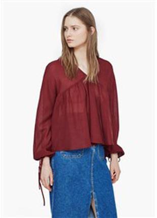 Распродажа!! очень легкая котоновая блуза своб. кроя mango