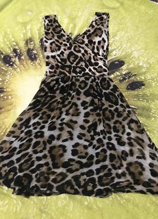 Летнее платье в принт