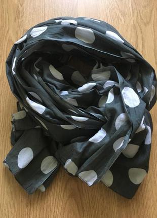 Шикарный шарф- палантин в горох