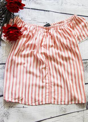 Очень милая котоновая блуза на спущенных плечах atmosphere