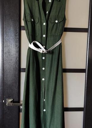Классное платье в стиле сафари