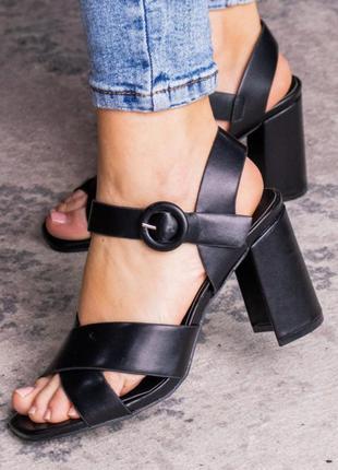 Черные туфли босоножки на каблуке женские летние новые - туфли женские летние 2021