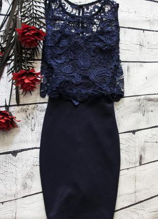 Шикараное платье с кружевом club l