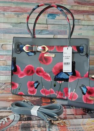Лаковая сумка и кошелёк ted bekker