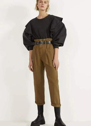 Стильные котоновые брюки штани джинси bershka