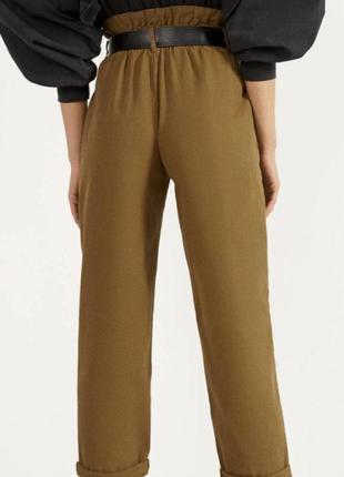 Стильные котоновые брюки штани джинси bershka4 фото