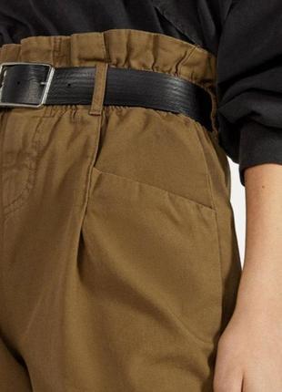 Стильные котоновые брюки штани джинси bershka2 фото