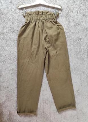 Стильные котоновые брюки штани джинси bershka6 фото