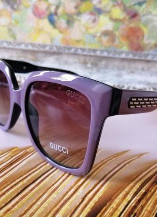 Эксклюзивные брендовые лиловые солнцезащитные женские очки 2021