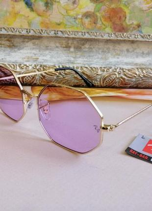 Стильные солнцезащитные женские очки многогранник и в металлической оправе 2021