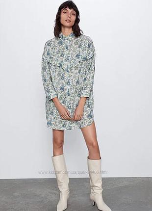 Zara платье рубашка. maje