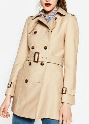 Трендовый укороченый короткий тренч плащ пальто куртка накидка