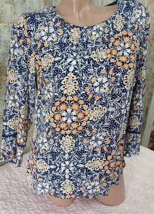 Классная летняя блуза в цветочный принт