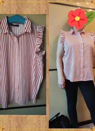 Marks & spencer женская блуза  рубашка короткий рукав 100% хлопок