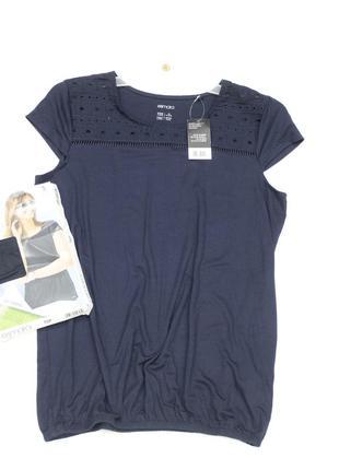 Темно синий блуза футболка  евро 36/38