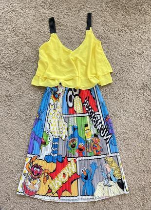 Эксклюзивная гипюр юбка в принте zara