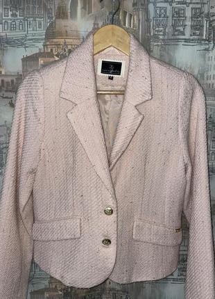 Пиджак твидовый в стиле шанель city  швеция