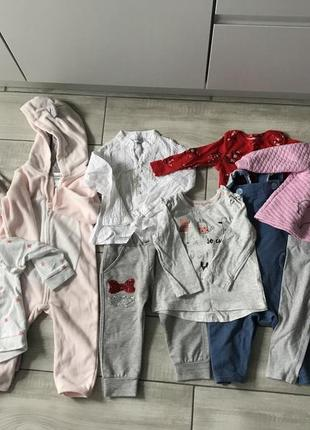 Пакет речей 9-12міс лот одягу на дівчинку