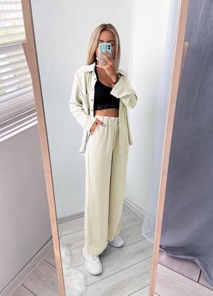 Лёгкий летний костюм  рубашка и широкие штаны