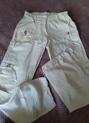 Льняные брюки штаны на лето летние