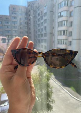 Очки солнцезащитные женские, солнечные очки, очки леопардовые3 фото