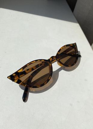 Очки солнцезащитные женские, солнечные очки, очки леопардовые