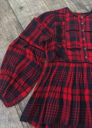Натуральная блуза сорочка рубашка с вышивкой new look 12