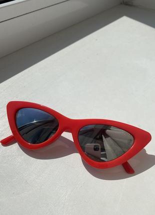 Стильные солнцезащитные очки, красные очки, женские очки