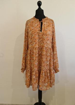 Шифоновое платье в цветы amisu