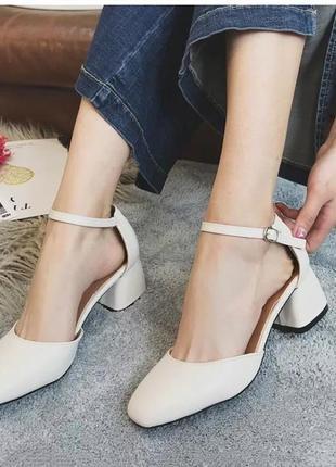 Свадебние туфли 🥰 молочні туфлі, розмір 37