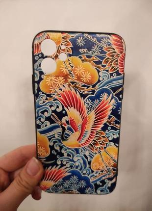 Силиконовый чехол чёрный текстурный для на айфон 11 iphone 11