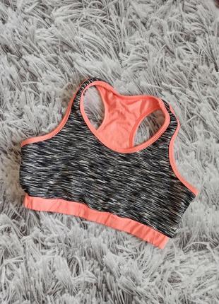 Спортивный топ activewear coral black, спортивный топ меланжевый